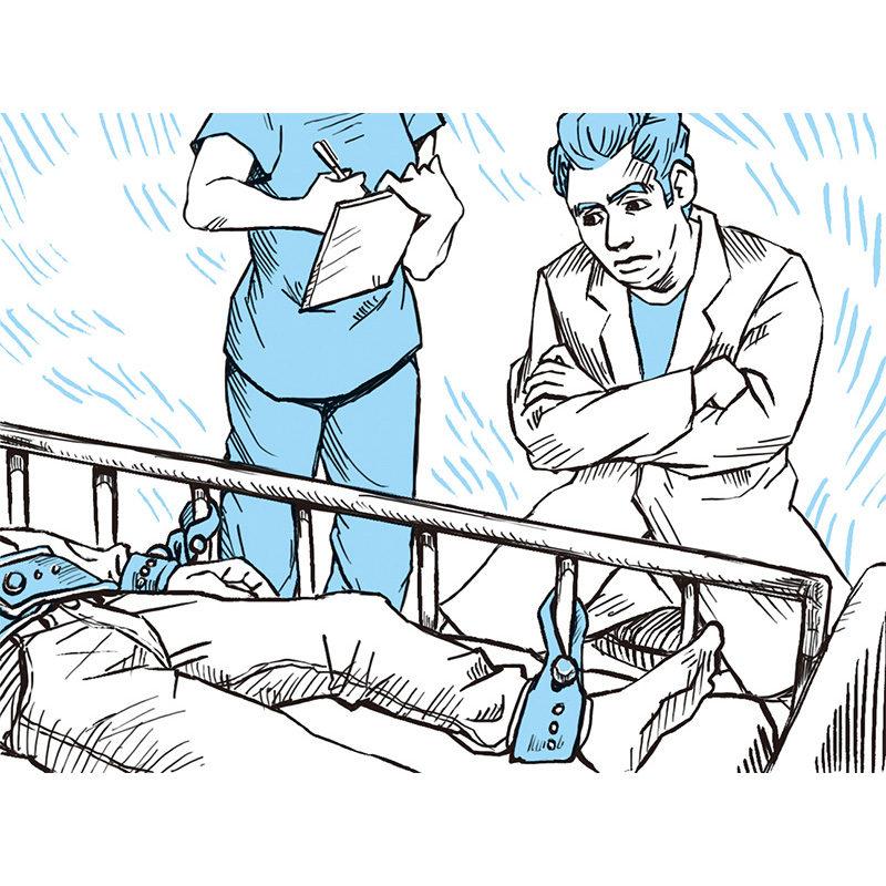 医療 ベッド イラスト