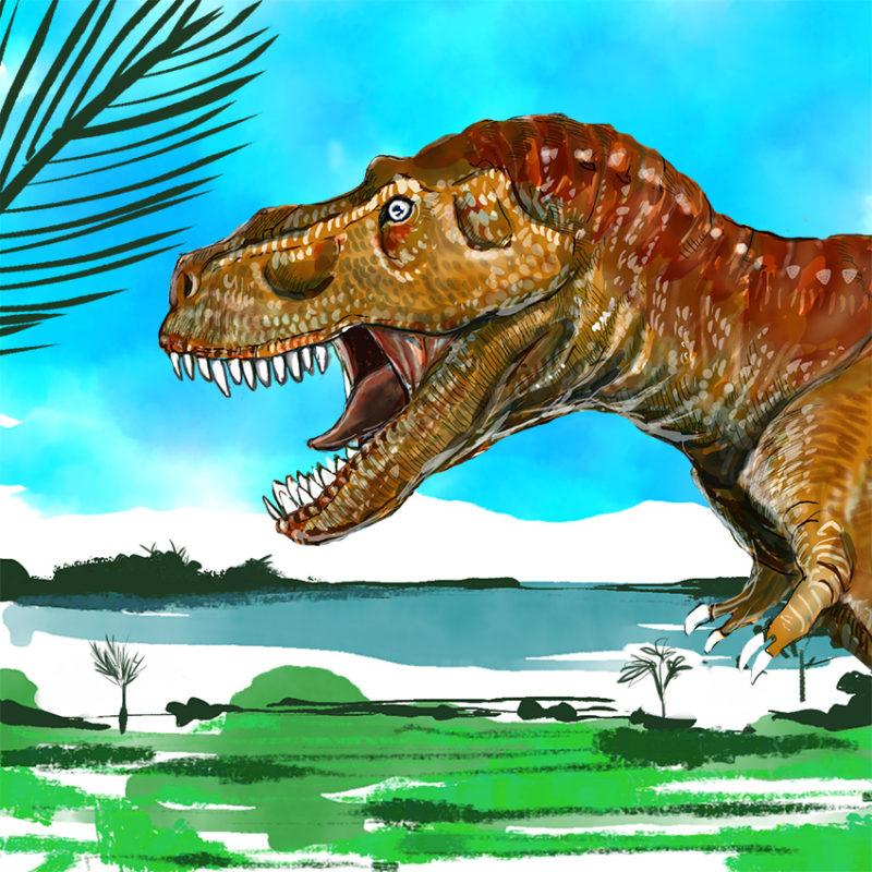 ティラノサウルス 恐竜 イラスト リアル